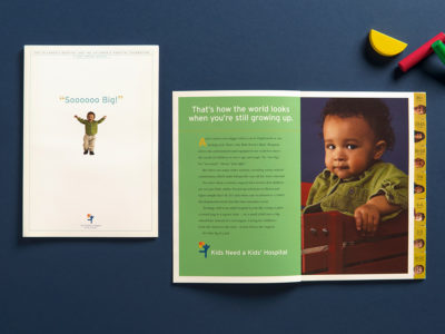 Children's Hospital Annual Report spread (project thumbnail)