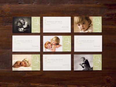 Karen Rubin Photography business cards (project thumbnail)