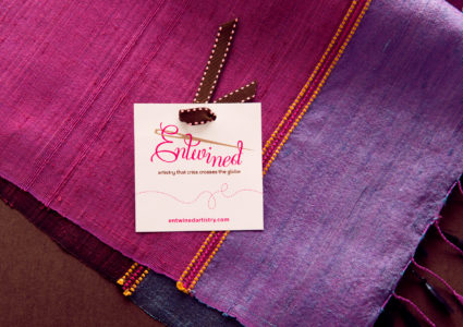 Entwined tag on cloth