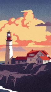 FCC Services calendar 2016 lighthouse illustration