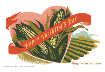 FCC Services calendar 2016 Valentine's Day illustration