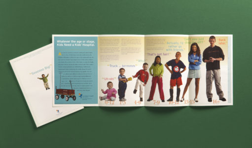 Children's Hospital Annual Report spread
