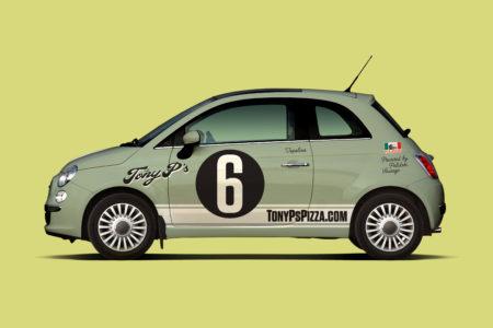 Tony P's Pizzeria green car