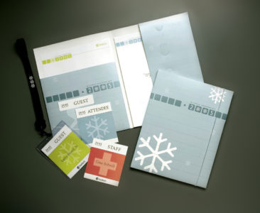 TeleTech Conference folders and name tags