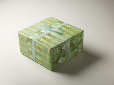 Frederic Printing green pattern gift wrap