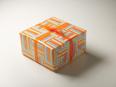 Frederic Printing orange pattern gift wrap