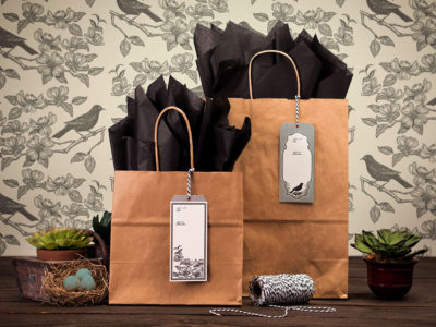 Blackbird General Store hang tags on paper bags (project thumbnail)