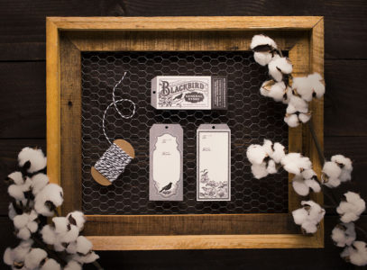 Blackbird General Store hang tags with cotton