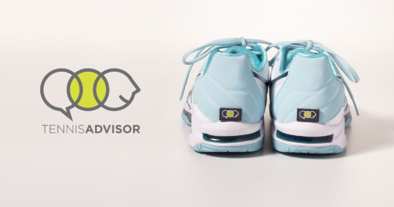 TennisAdvisor logo with shoes