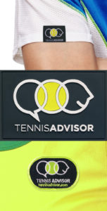 TennisAdvisor shirt tag and patch