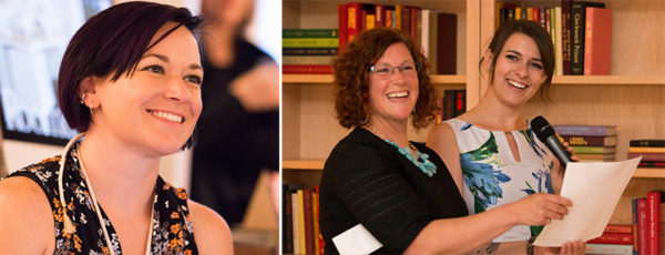 Elysia Syriac, Jess Moore, and Victoria Adams-Kotsch at the AIGA Colorado Fellows Gala 2017