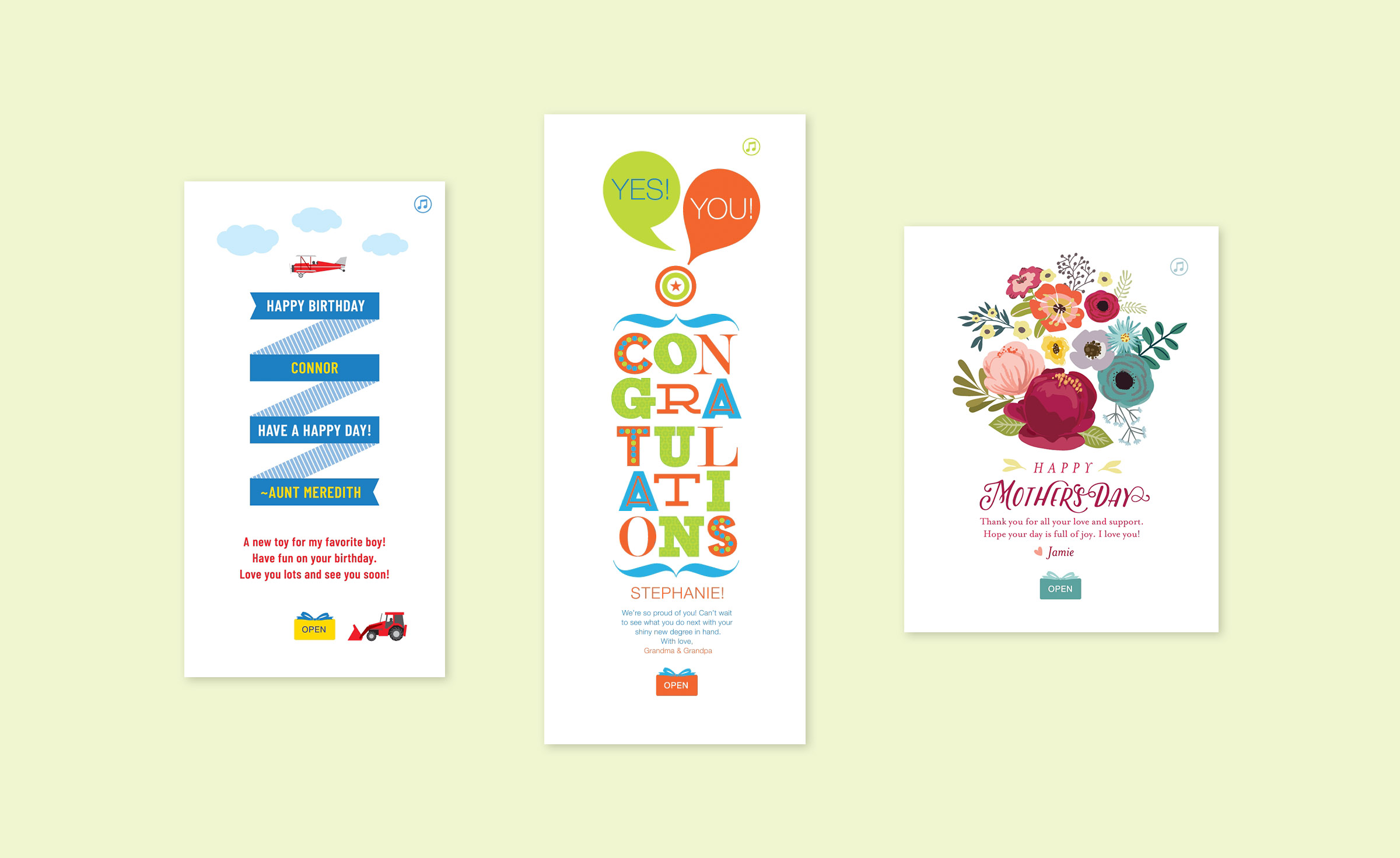 Animated Greeting Cards Enzed Design