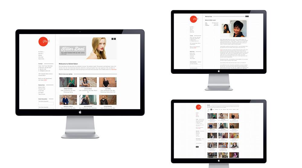 EnZed Design designs Grand Salons website